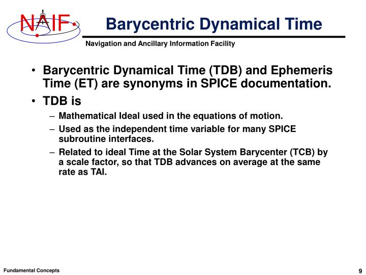 Barycentric Dynamical Time