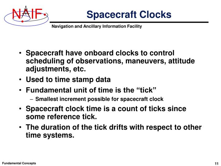 Spacecraft Clocks