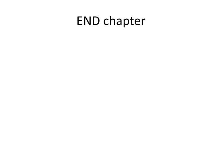END chapter