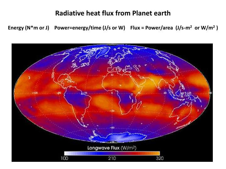 Radiative heat flux from Planet earth
