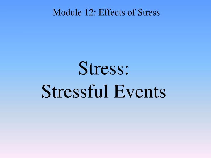 Stress: