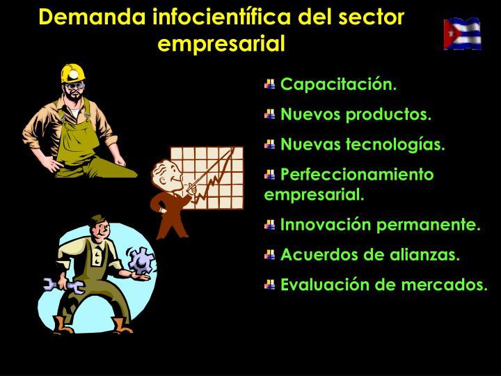 Demanda infocientífica del sector empresarial