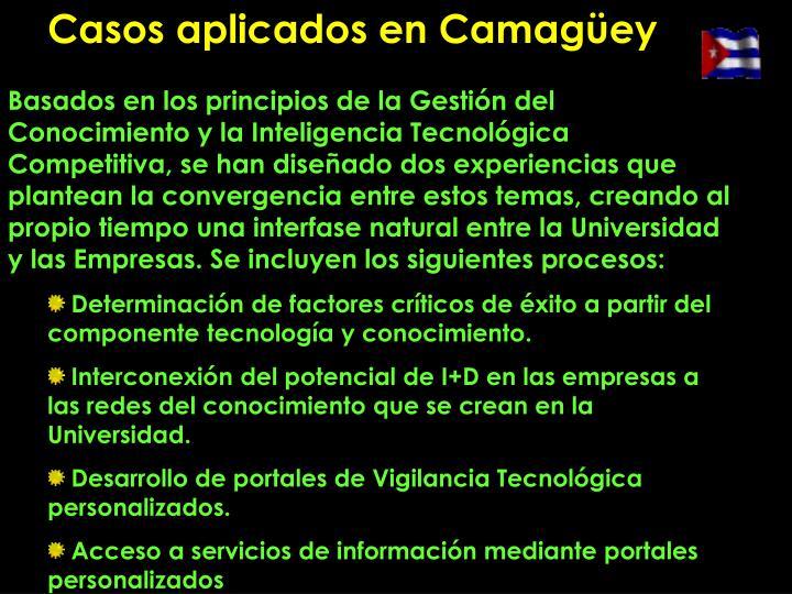 Casos aplicados en Camagüey