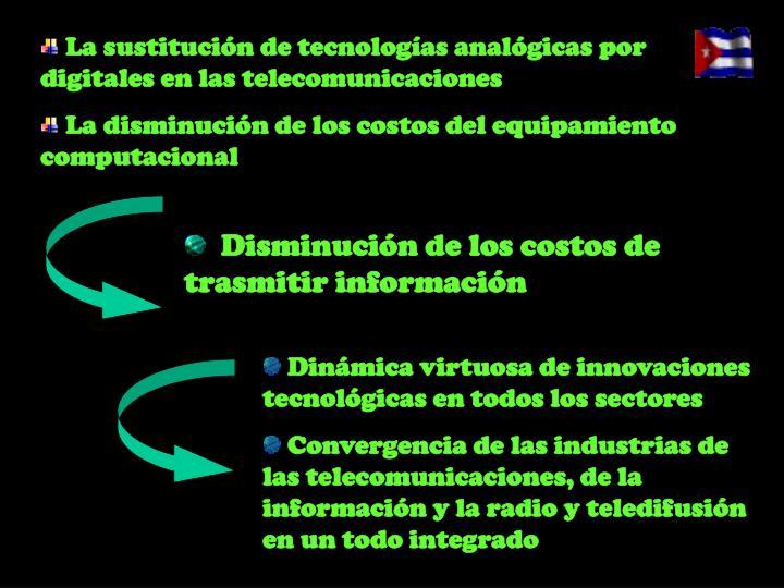 La sustitución de tecnologías analógicas por digitales en las telecomunicaciones