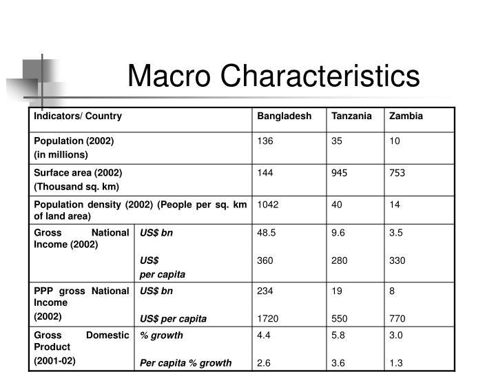 Macro Characteristics