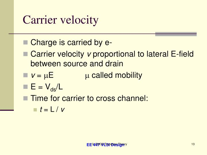 Carrier velocity