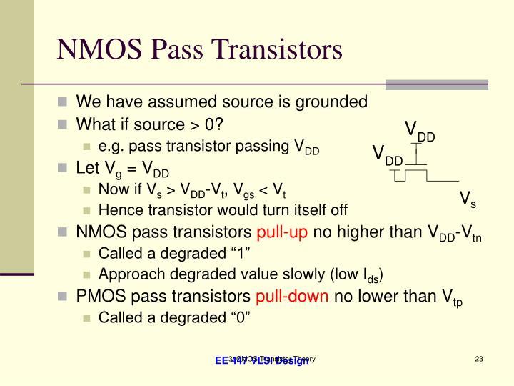 NMOS Pass Transistors