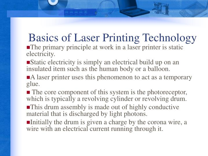 Basics of Laser Printing Technology