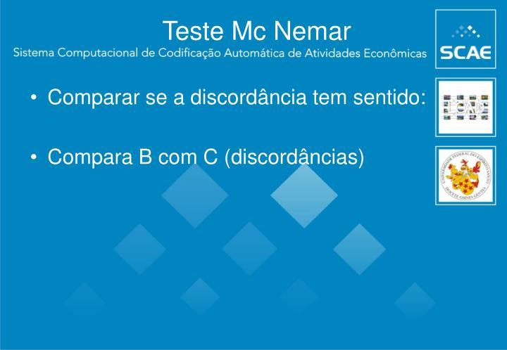 Teste Mc Nemar