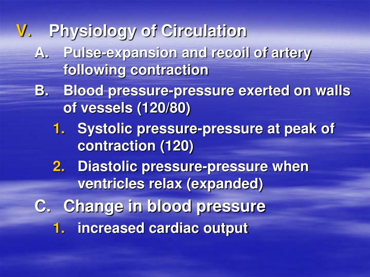 Physiology of Circulation