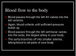 blood flow to the body