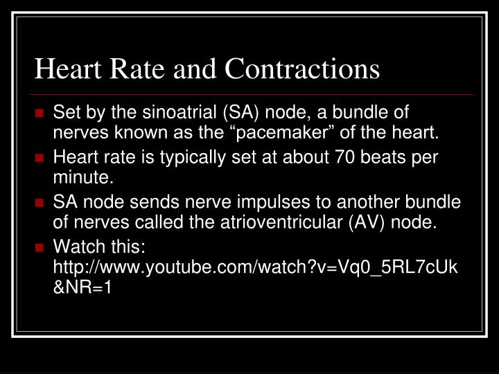 Heart Rate and Contractions