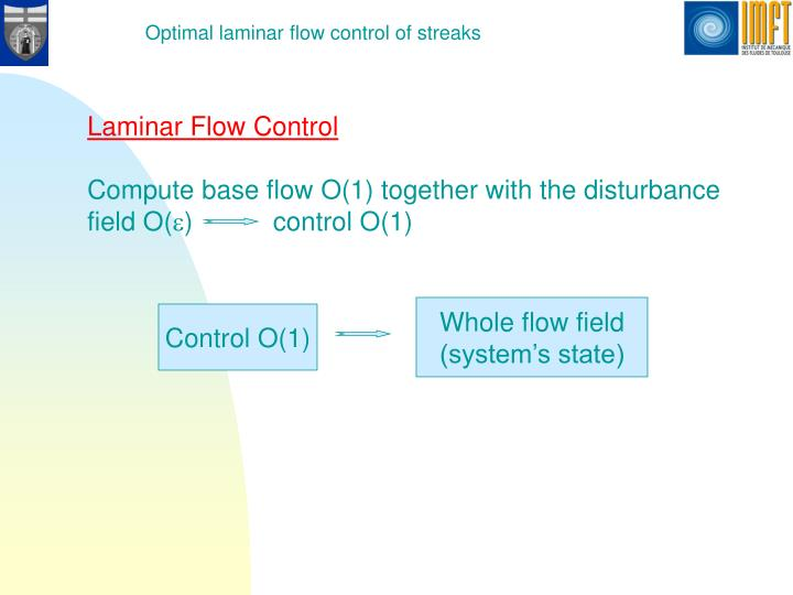 Optimal laminar flow control of streaks