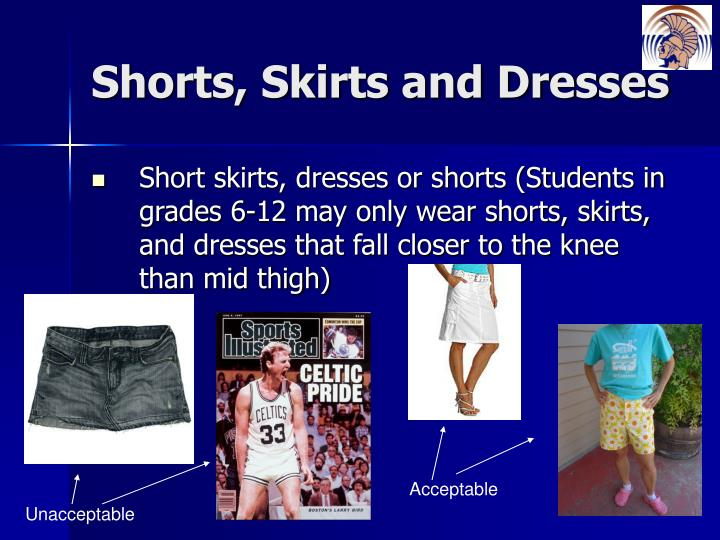 Shorts, Skirts and Dresses