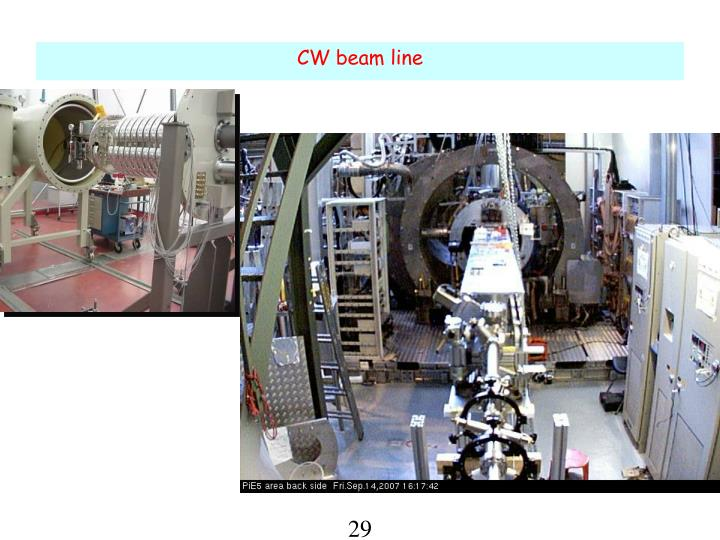 CW beam line