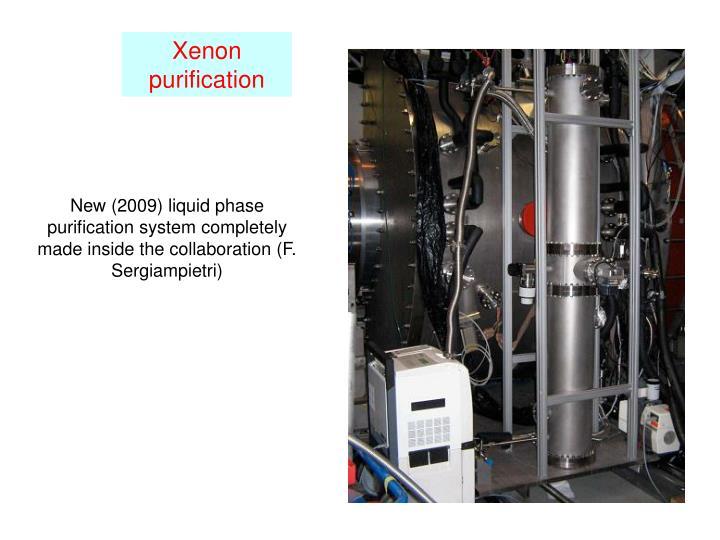 Xenon purification