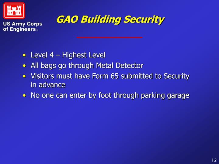 GAO Building Security