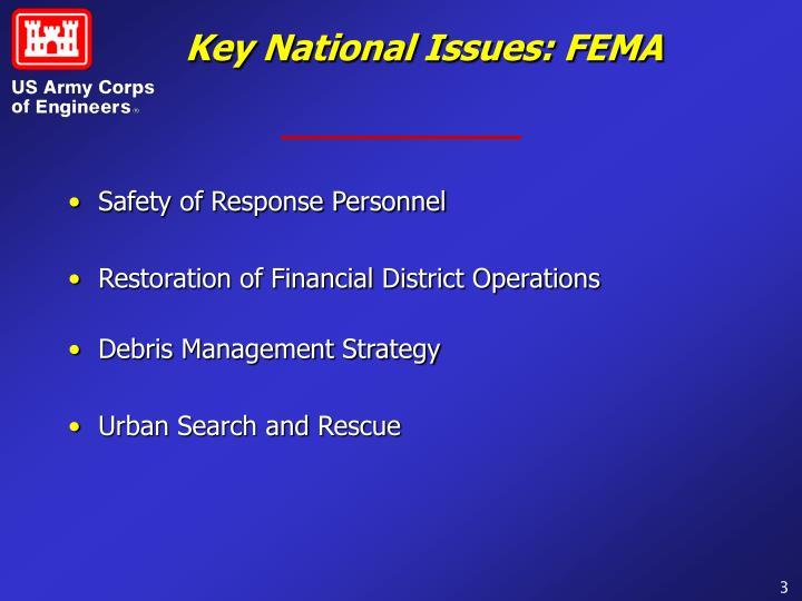 Key National Issues: FEMA