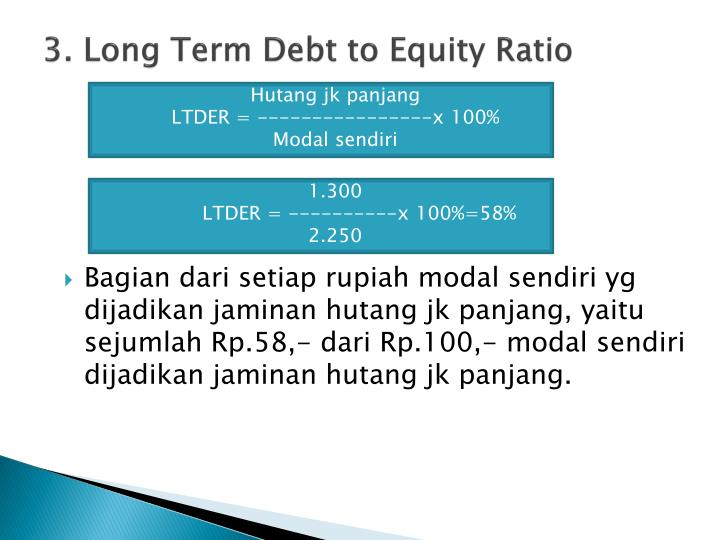 3. Long Term Debt to Equity Ratio