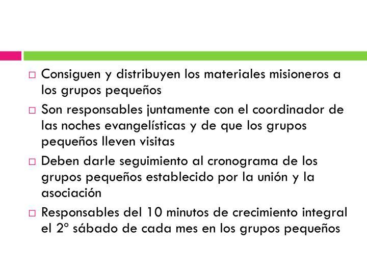Consiguen y distribuyen los materiales misioneros a los grupos pequeños