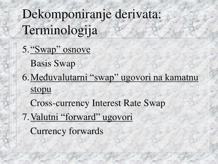 Dekomponiranje derivata:
