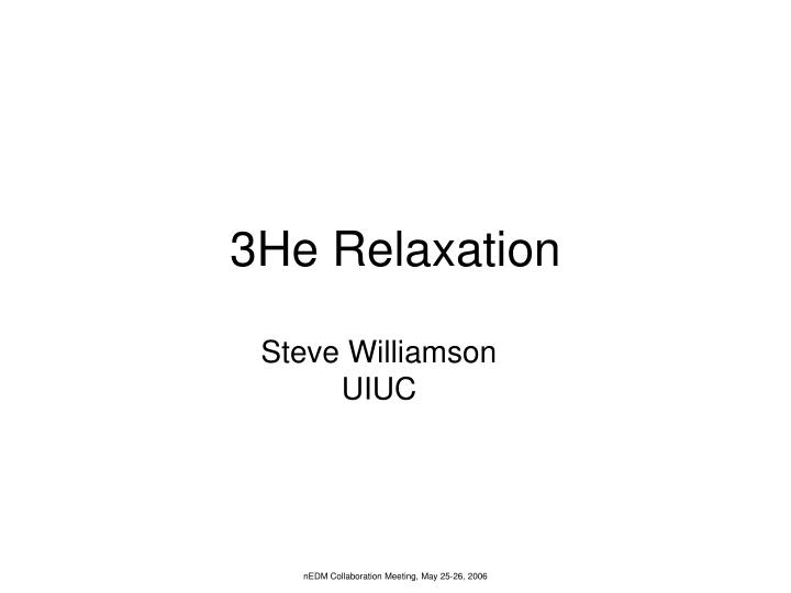 3He Relaxation