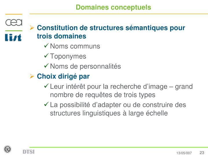 Domaines conceptuels