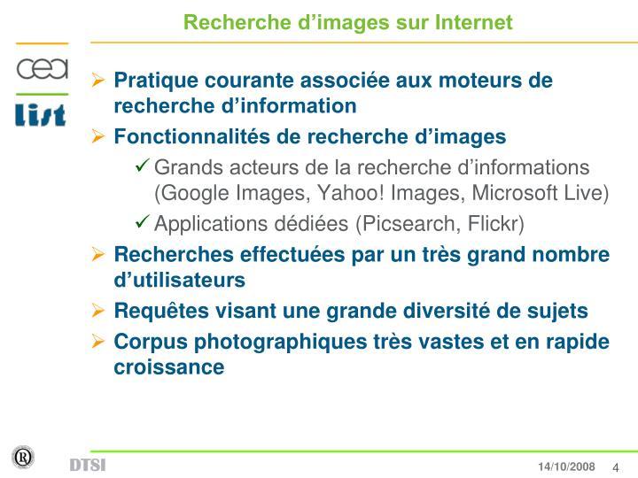 Recherche d'images sur Internet