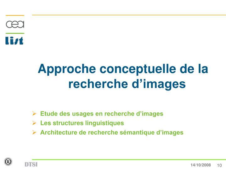 Approche conceptuelle de la recherche d'images