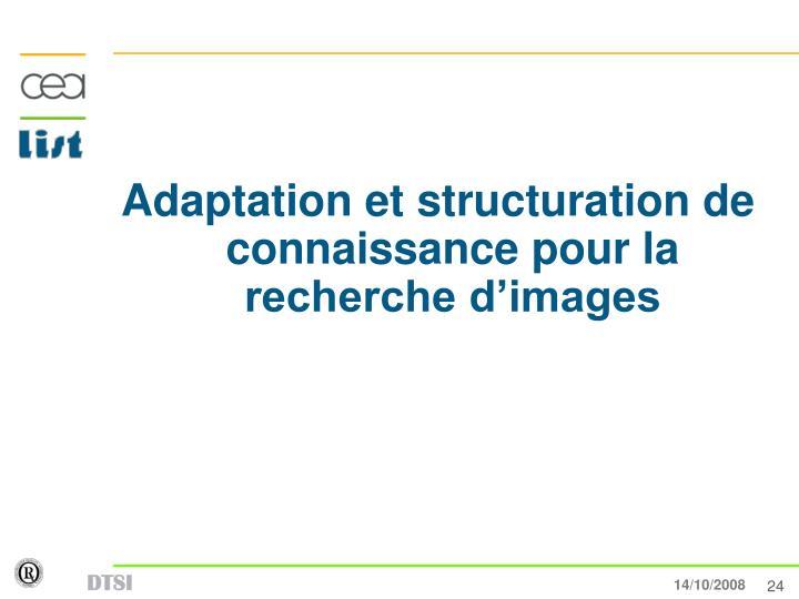 Adaptation et structuration de connaissance pour la recherche d'images