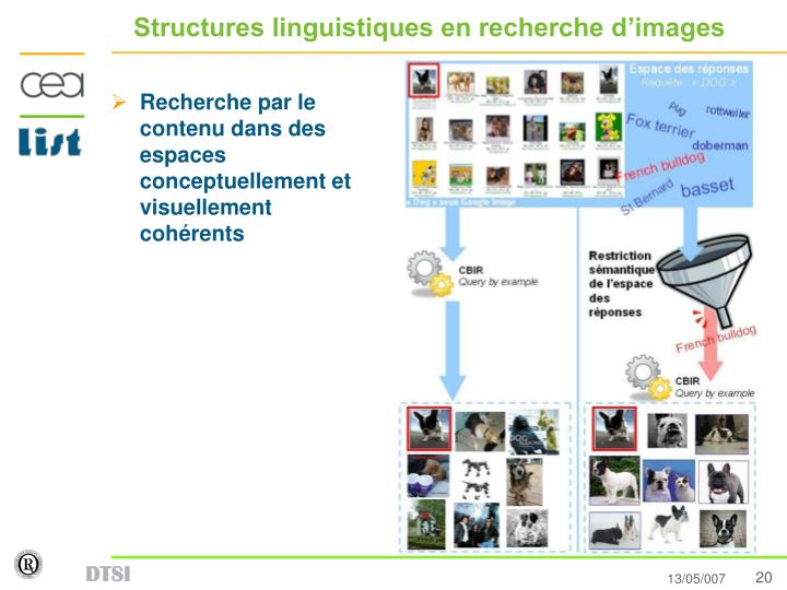 Structures linguistiques en recherche d'images