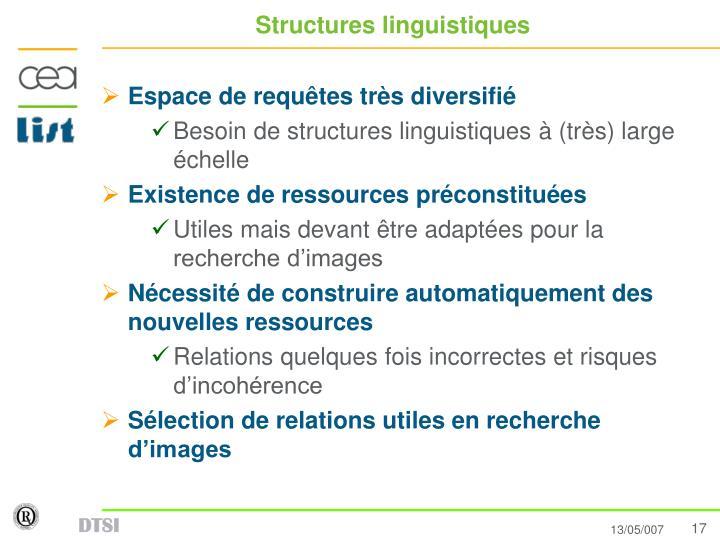 Structures linguistiques