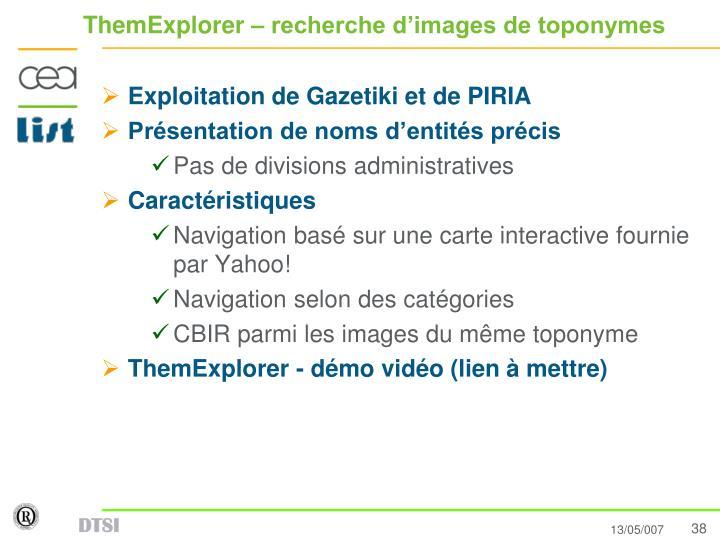 ThemExplorer – recherche d'images de toponymes