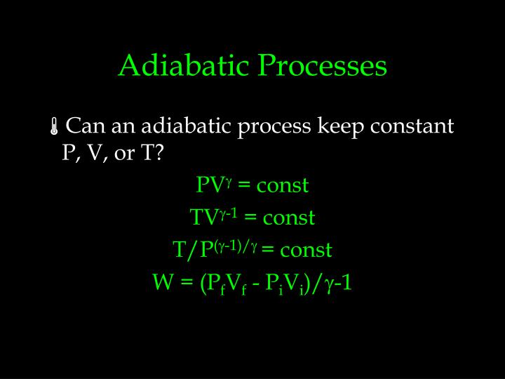 Adiabatic Processes
