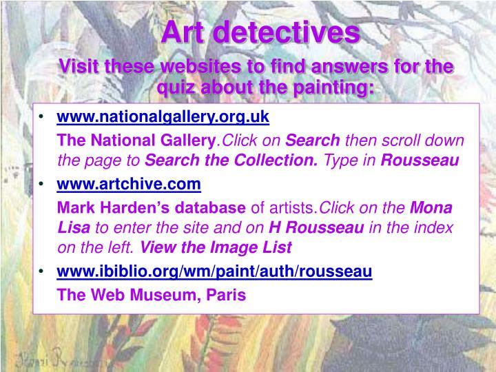 Art detectives