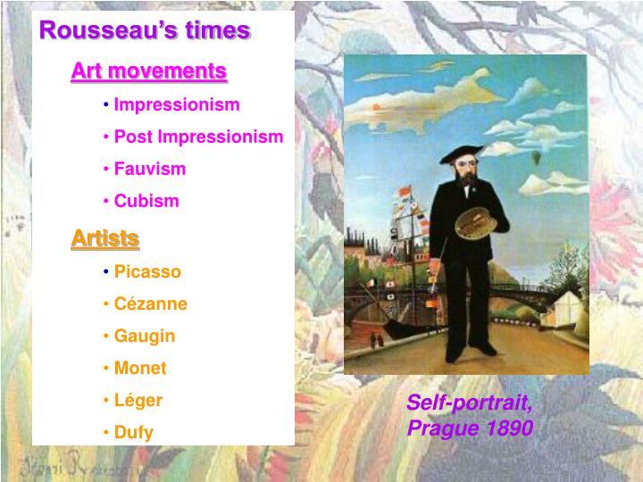 Rousseau's times