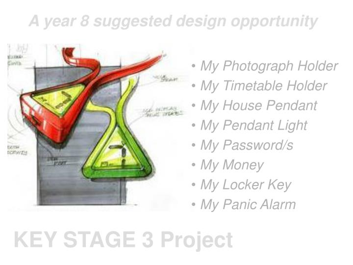 A year 8 suggested design opportunity