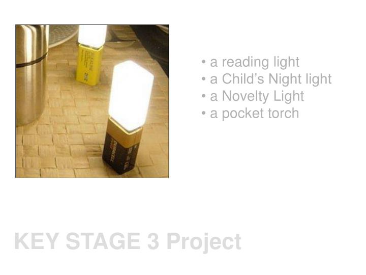 a reading light