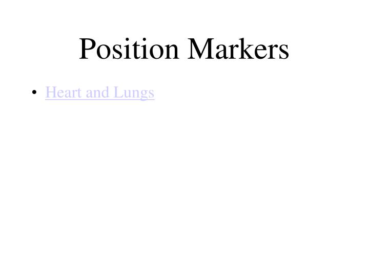 Position Markers
