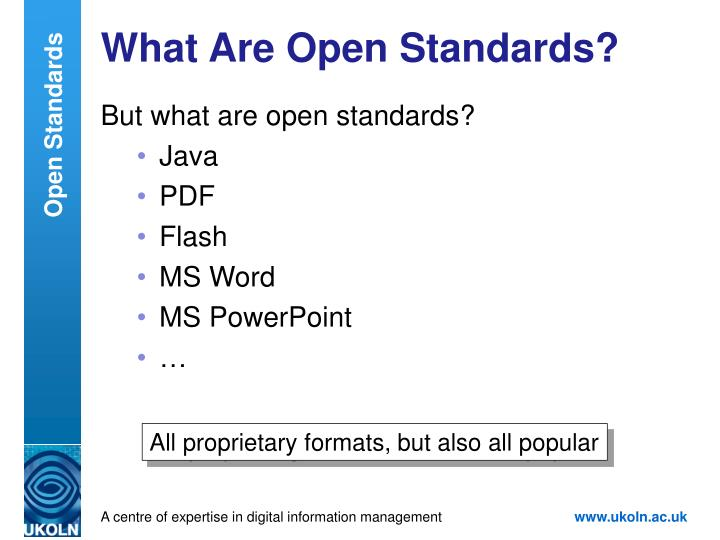 What Are Open Standards?