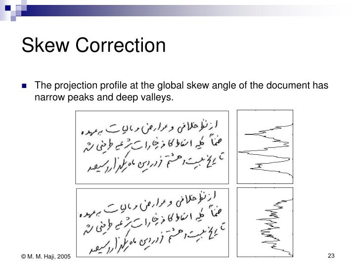 Skew Correction