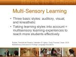 multi sensory learning