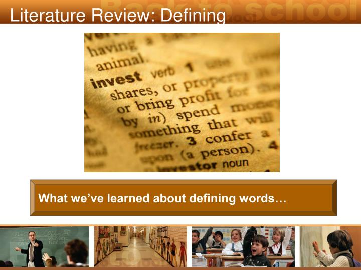 Literature Review: Defining