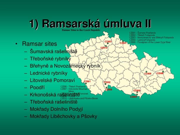 1) Ramsarská úmluva II
