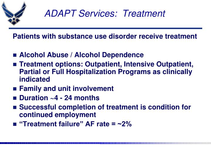 ADAPT Services:  Treatment