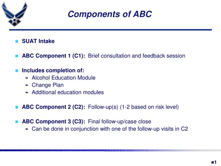 Components of ABC