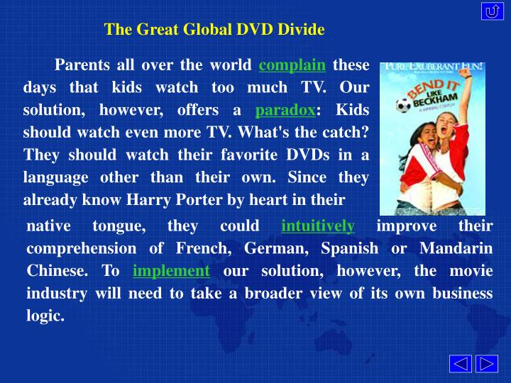The Great Global DVD Divide