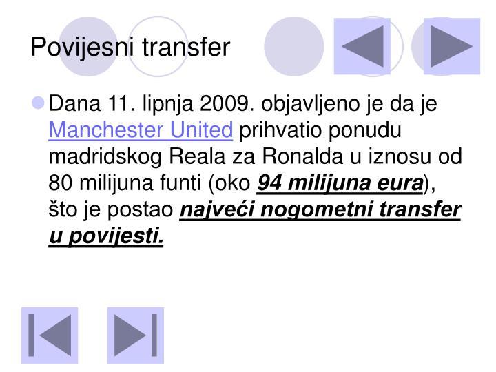 Povijesni transfer