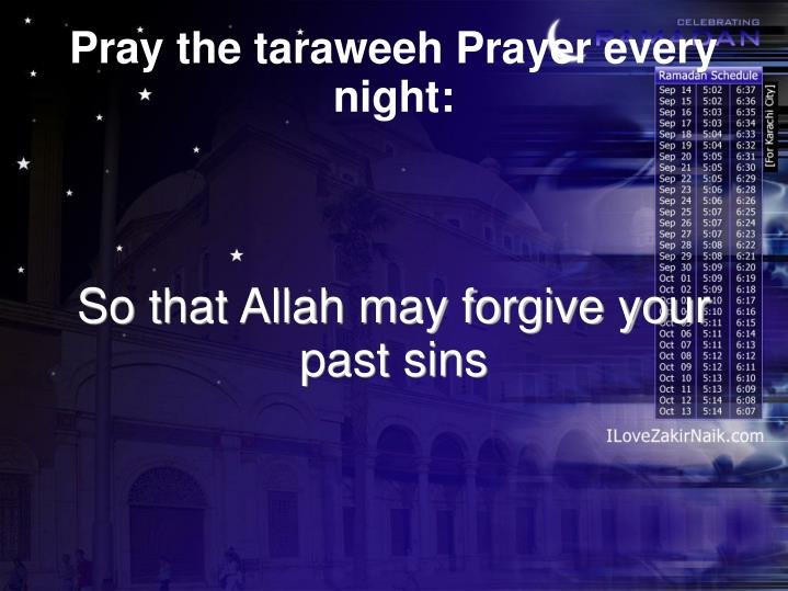 So that Allah may forgive your past sins