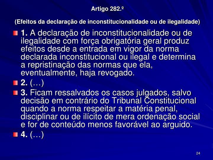 Artigo 282.º